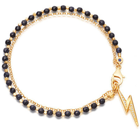 Biography Midnight Lightning Bolt Bracelet, ${color}