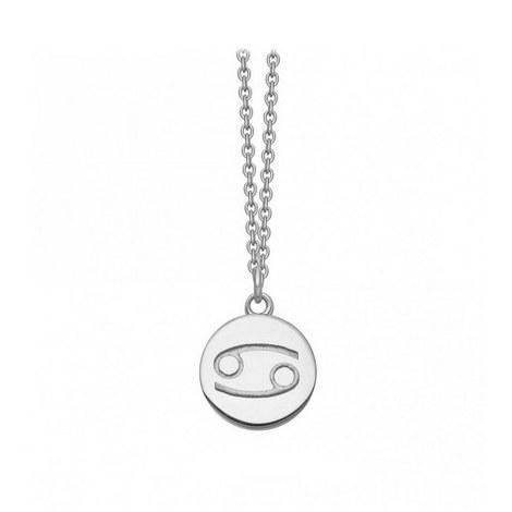 Cancer Zodiac Pendant Necklace, ${color}