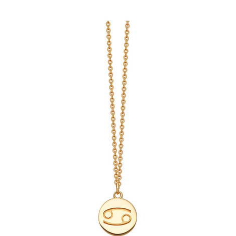 Cancer Zodiac Pendant Necklace, ${color}