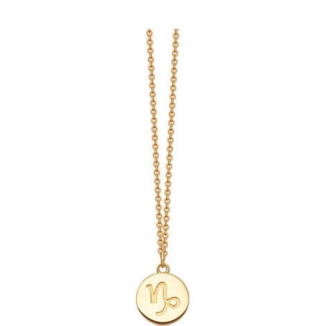 Capricorn Zodiac Pendant Necklace, ${color}