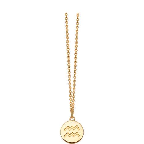 Acquarius Zodiac Pendant Necklace, ${color}
