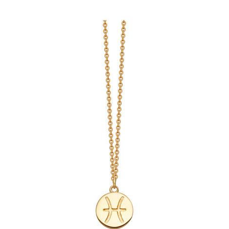 Pisces Zodiac Pendant Necklace, ${color}