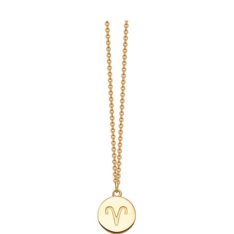 Aries Zodiac Pendant Necklace, ${color}