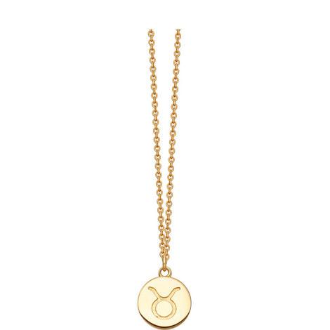 Taurus Zodiac Pendant Necklace, ${color}
