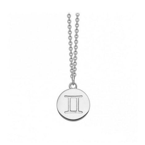Gemini Zodiac Pendant Necklace, ${color}
