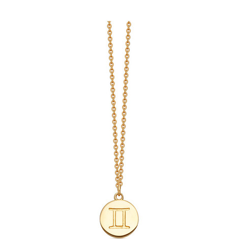 Gemini Zodiac Pendant Necklace, ${color}