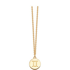 Gemini Zodiac Pendant Necklace