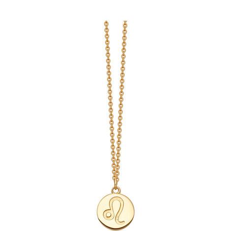 Leo Zodiac Pendant Necklace, ${color}