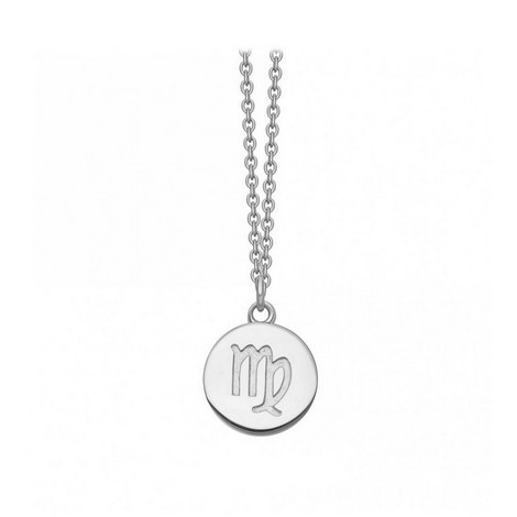 Virgo Zodiac Pendant Necklace, ${color}