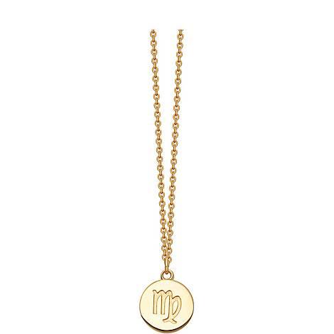 Virgo Zodiac Pendant Necklace, ${color}
