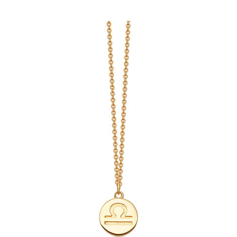 Libra Zodiac Pendant Necklace, ${color}