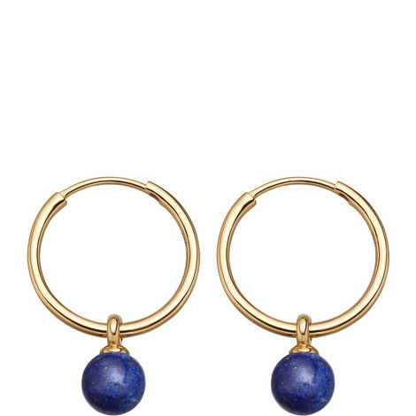 Vera Drop Hoop Earrings, ${color}