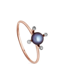 Pluto Gold Pearl Ring