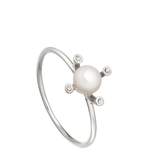 Pluto Gold Pearl Ring, ${color}