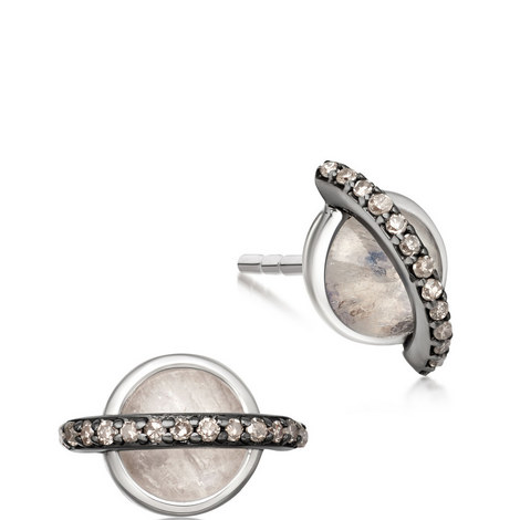 Saturn Rainbow Moonstone Earrings, ${color}