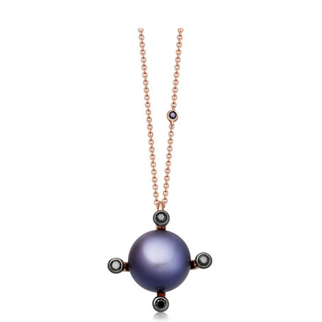Pluto Gold Pearl Necklace, ${color}