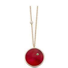 Mars Ruby Gold Pendant