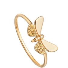 Gold Moth Ring