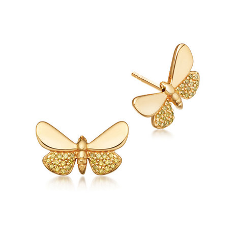 Gold Moth Earrings, ${color}