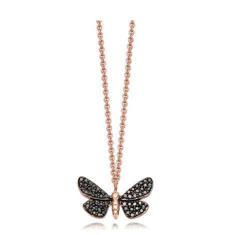 Black Diamond Moth Necklace, ${color}