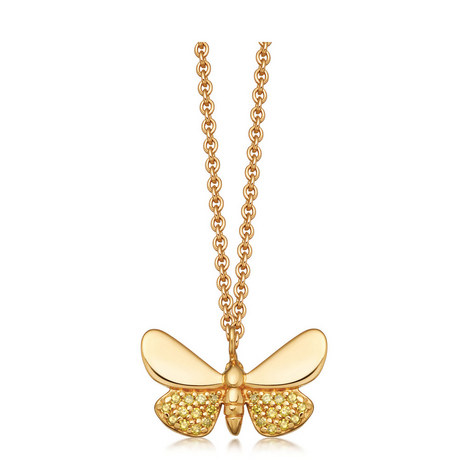 Gold Moth Necklace, ${color}