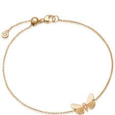 Gold Moth Bracelet