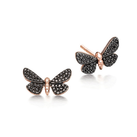Black Diamond Moth Earrings, ${color}