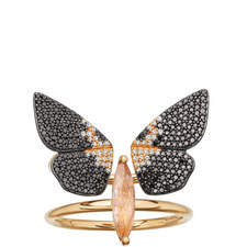 Magpie Double Moth Ring