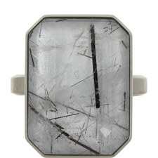Dive Bar Tourmalated Quartz Smart Ring
