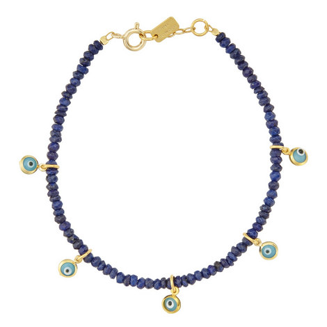 Lapis and Evil Eye Charm Bracelet, ${color}