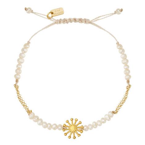Floral Pearl Charm Bracelet, ${color}