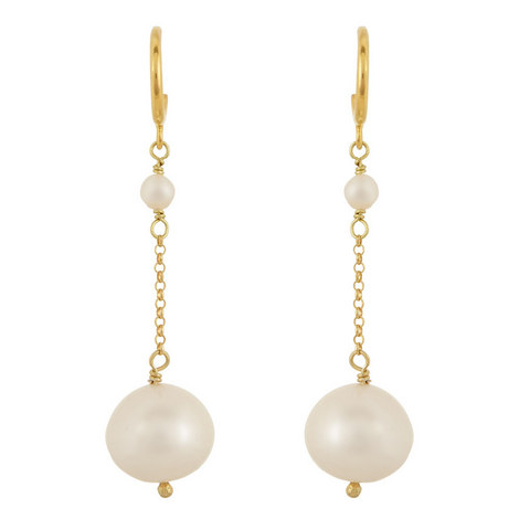Sea Pearl Drop Earrings, ${color}