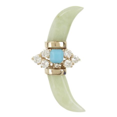 Jade Horn Single Earring, ${color}
