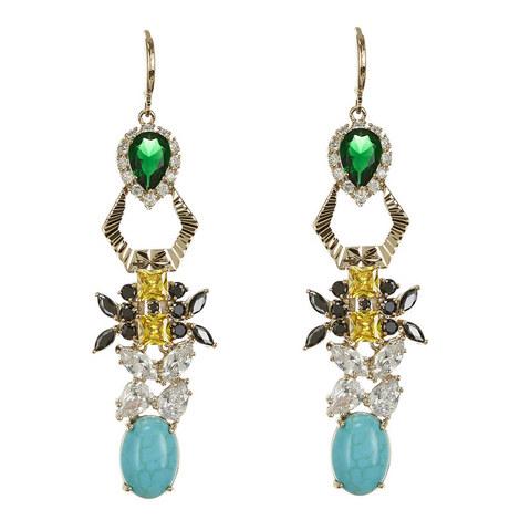 Vintage-Style Drop Earrings, ${color}