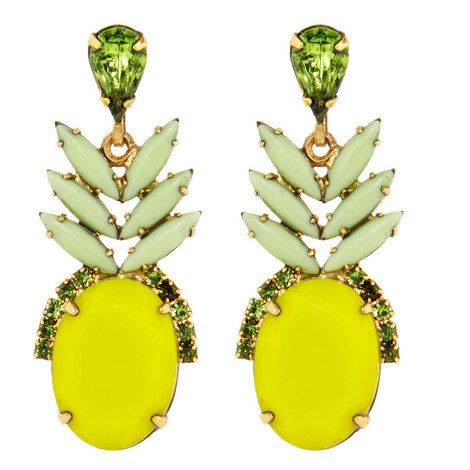 Ananas Drop Earrings, ${color}