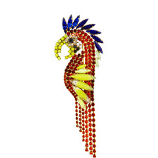 Paco Mohawk Parrot Brooch