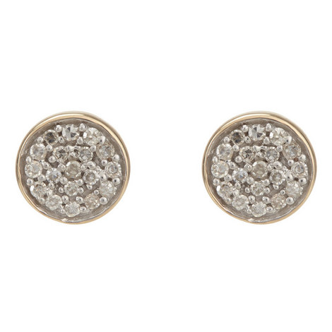 Solid Pavé Disc Earrings, ${color}
