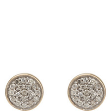 Solid Pavé Disc Earrings