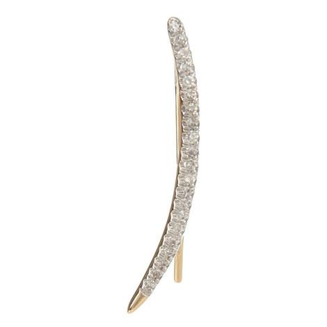 Pavé Curve Earrings, ${color}