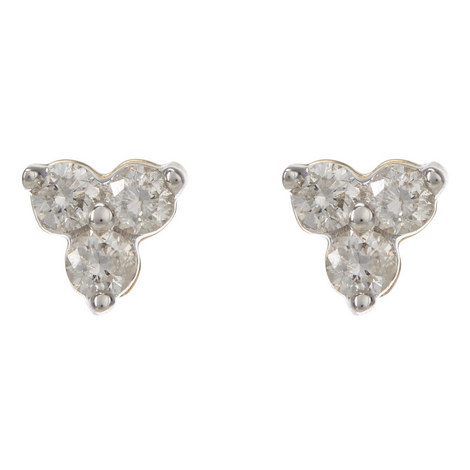 Diamond Cluster Earrings, ${color}