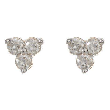 Diamond Cluster Earrings, ${color}