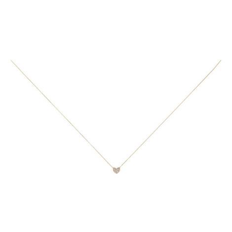 Tiny Heart Fold Necklace, ${color}