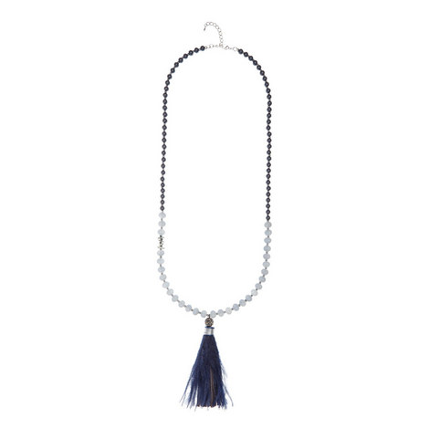 Feather Tassel Necklace, ${color}