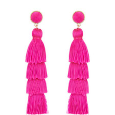 Gabriela Fringe Tassel Drop Earrings