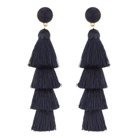 Gabriela Fringe Tassel Drop Earrings, ${color}