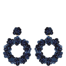 Fioretta Sequin Hoop Earrings