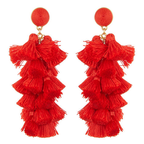 Gabriela Fringe Tassel Drop Earrings, ${color}