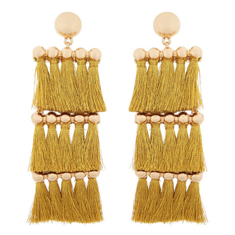Malaya Tassel Drop Earrings, ${color}