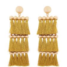 Malaya Tassel Drop Earrings