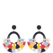Ayana Tassel Hoop Earrings